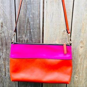 Zara Vegan Leather Colorblock Crossbody Bag